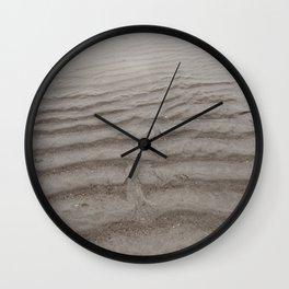 Ripples of Sand at the Shore Wall Clock