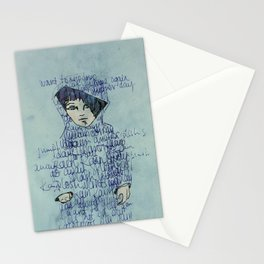 Rain on the galaxy Child. Stationery Cards