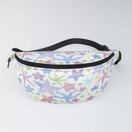 Watercolor Starfish Pattern - Pastel Fanny Pack
