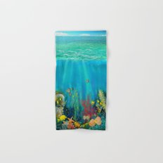 Undersea Art With Coral Hand & Bath Towel