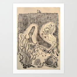 Parchment Sea  Art Print