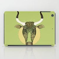 taurus iPad Cases featuring Taurus by Vibeke Koehler