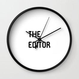 The Editor Filmmaking Movie Editing Film School Wall Clock