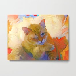 Let Me Think About It Metal Print