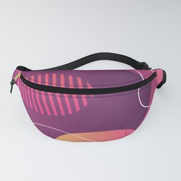 Red Orange And Purple Abstract Design Fanny Pack