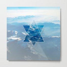 Mountain Vibes Geometry Metal Print