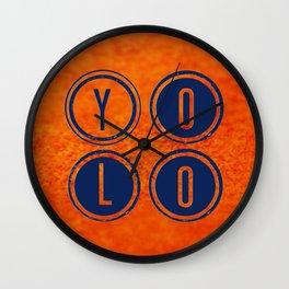 YOLO Dark Blue Wall Clock