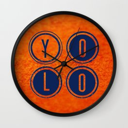 YOLO Dark Blue Wall Clock