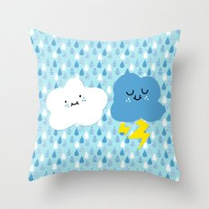 Fair Weather Friends Throw Pillow