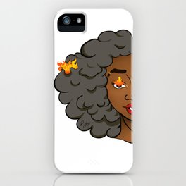 Stormy Grey Edda • Melaninated Girl Power • Black Girl Magic iPhone Case