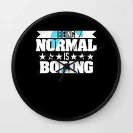 Being normal Is Boring Aircraft Pilot Wall Clock