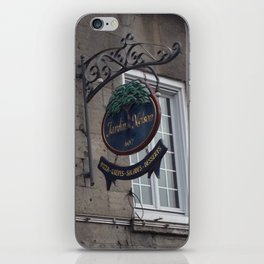 Old Montreal Sign iPhone Skin