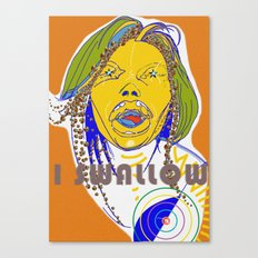 I swallow  Canvas Print