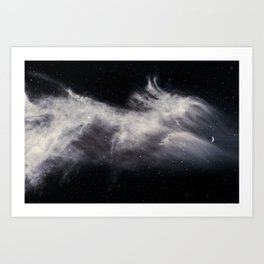 Moon and Clouds Art Print