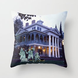 Haunted Mansion and Hitchhikers Throw Pillow