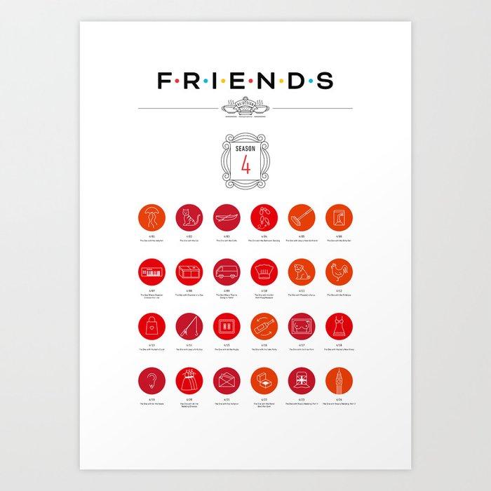 Tribute to Friends: Season 4 Art Print