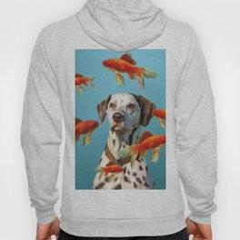 Dalmatian Dog with goldfishes Hoody