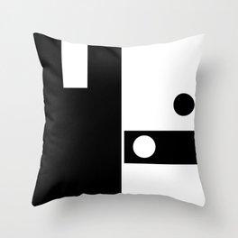 Minimal Black and White Throw Pillow