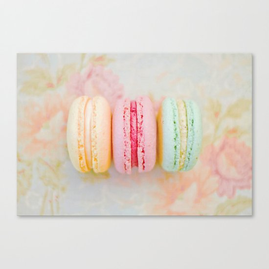 Happy Macarons Canvas Print