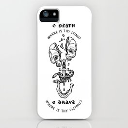 o death, where is thy sting? iPhone Case