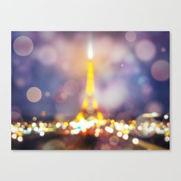 Abstract Eiffel Tower Canvas Print