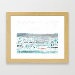 Scenic Impressions: FOSSIL BEACH Framed Art Print