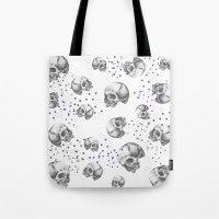 skulls Tote Bags featuring SKULLS by Vickn