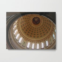 The rotunda of the Capitol building in Madison, Wisconsin Metal Print