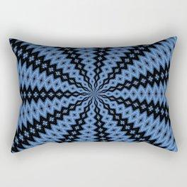 Blue & Black Rectangular Pillow