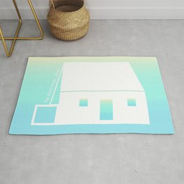 White House Jersey in Turquoise Gradient  Rug