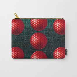 SHINY RED GOLF BALLS Carry-All Pouch