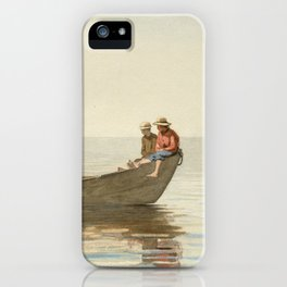 Winslow Homer - Three Boys in a Dory with Lobster Pots iPhone Case