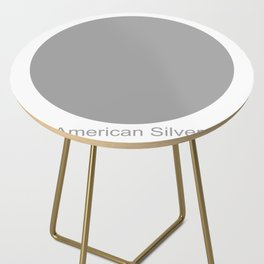 American Silver Side Table