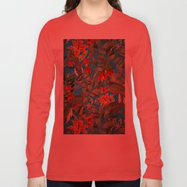 Vintage & Shabby Chic - Tropical Birds and Orchid  Aloha Jungle Long Sleeve T-shirt