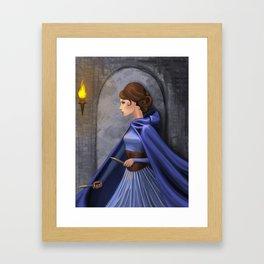 Adventurer in Blue Framed Art Print