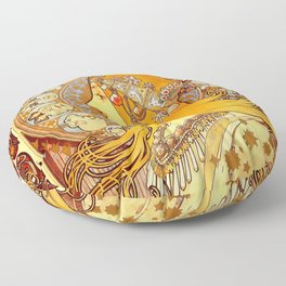 """Alphonse Mucha """"Zodiac"""" Floor Pillow"""