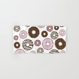 Pattern Of Donuts, Sprinkles, Icing - Pink Brown Hand & Bath Towel
