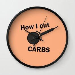 How I cut carbs – Funny Pizza Humor Wall Clock