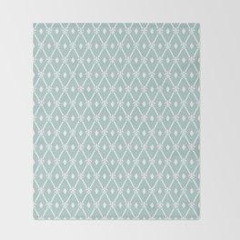 Trendy Elegant Modern Trellis Pattern Throw Blanket