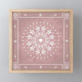Mauve Magic Mandala Framed Mini Art Print