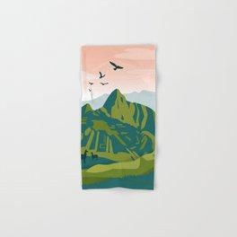 Machu Picchu Illustration by Cindy Rose Studio Hand & Bath Towel