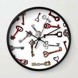 Old keys Wall Clock