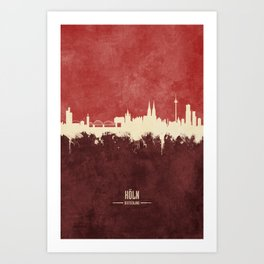 Cologne (Köln) Germany Skyline Art Print