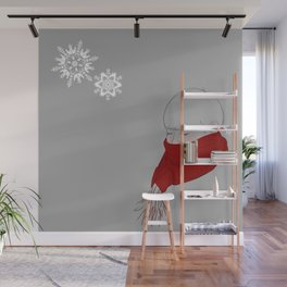 A Dae in Snow Wall Mural