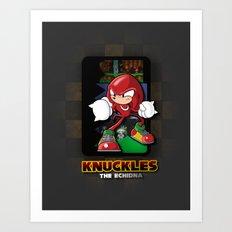 knuckles the echidna Art Print