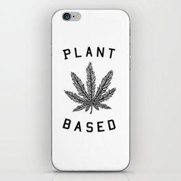 plant based marijuana leaf iPhone Skin