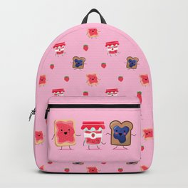 Breakfast Is Jammin' pattern Backpack