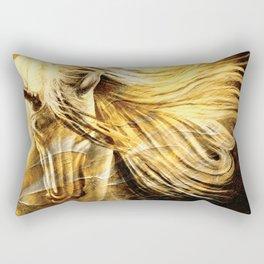Golden Palomino Equine Art Rectangular Pillow