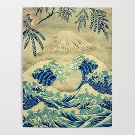 The Great Blue Embrace at Yama Poster