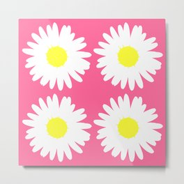 Pink Daisy Bouquet Metal Print